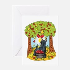 Fall Scottish Terrier Greeting Card