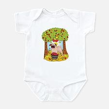 Fall Pug Infant Bodysuit