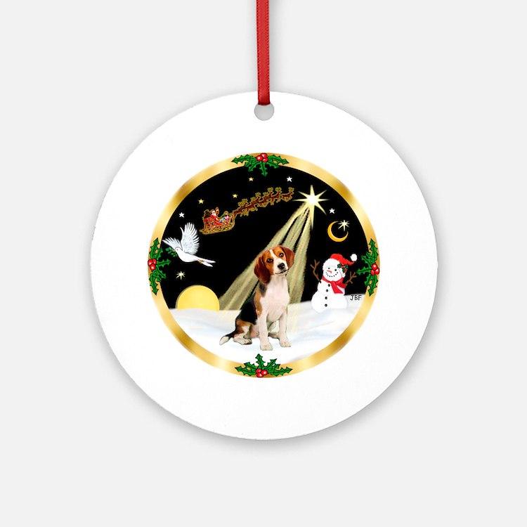 Night Flight/Beagle Ornament (Round)