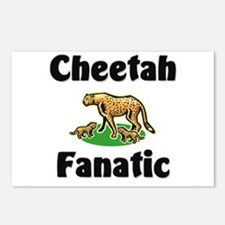 Cheetah Fanatic Postcards (Package of 8)