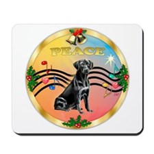XmasMusic2/Labrador Retriever (black) Mousepad