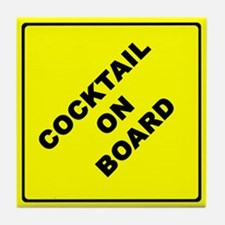 COCKTAIL ON BOARD parody Tile Coaster