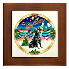 XmasMusic3/Labrador Retriever (black) Framed Tile