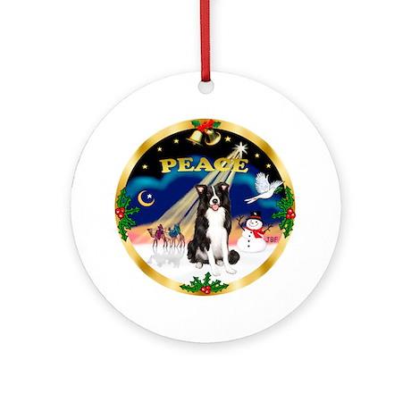 XmasSunrise/Border Collie Ornament (Round)