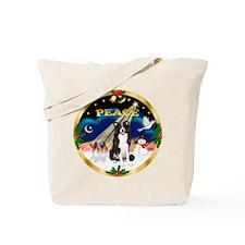 XmasSunrise/Border Collie Tote Bag