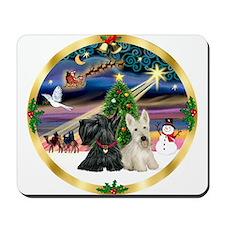 XmasMagic/Scottish Terrier pair Mousepad