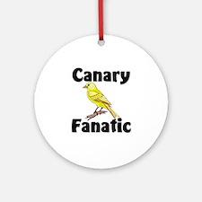 Canary Fanatic Ornament (Round)