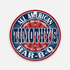 Timothy's All American BBQ Ornament (Round)