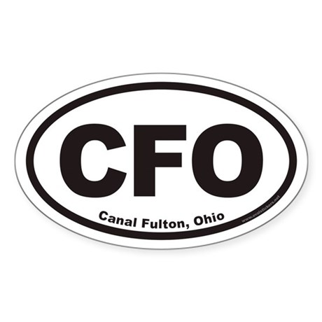 Canal Fulton Ohio CFO Euro Oval Sticker