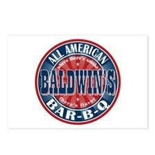 Baldwin's All American BBQ Postcards (Package of 8