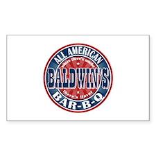 Baldwin's All American BBQ Rectangle Decal