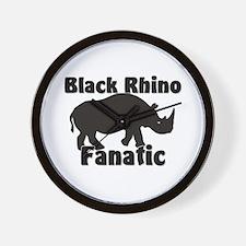 Black Rhino Fanatic Wall Clock