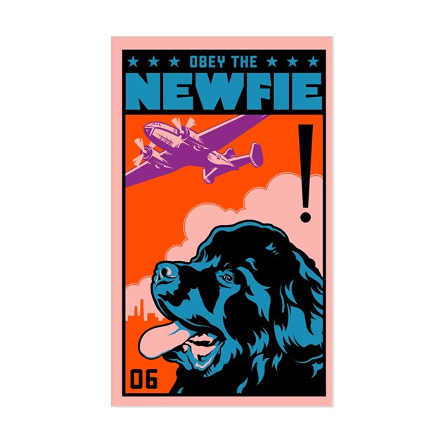 Obey the NEWFIE! Dog Decal by dogs_of_war