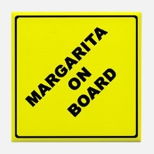 MARGARITA ON BOARD parody Tile Coaster