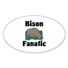 Bison Fanatic Oval Decal
