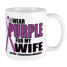 Fibromyalgia:Purple for Wife Mug