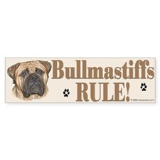 Bullmastiffs Rule Bumper Bumper Sticker