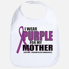 Fibromyalgia:Purple For Mother Bib