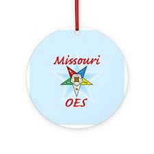 Missouri Eastern Star Ornament (Round)