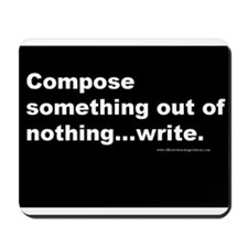 Compose something out of nothing...write