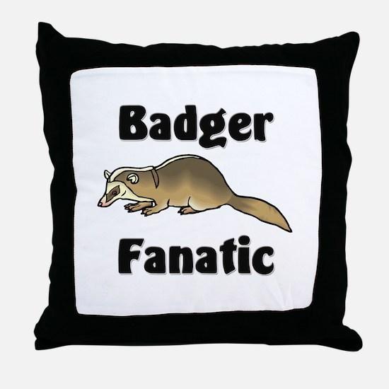 Badger Fanatic Throw Pillow