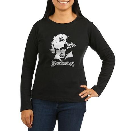 Beethoven Rockstar Women's Long Sleeve Dark T-Shir