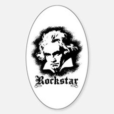 Beethoven Rockstar Oval Decal