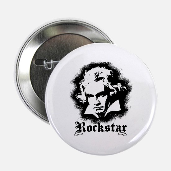 "Beethoven Rockstar 2.25"" Button"