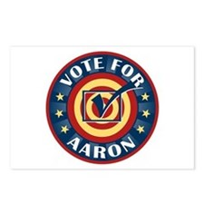Vote for Aaron Personalized Postcards (Package of