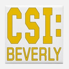 Personalized CSI Beverly Tile Coaster