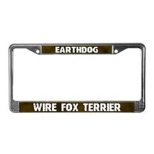 Earthdog Wire Fox Terrier License Plate Frame