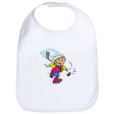 Cute Hockey Girl Bib