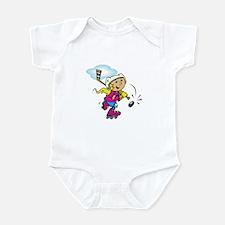 Cute Hockey Girl Infant Bodysuit