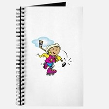 Cute Hockey Girl Journal