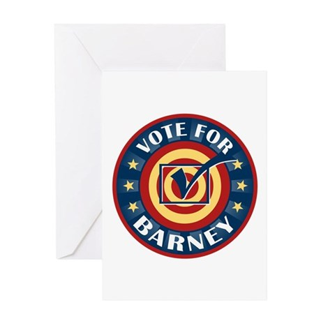 Vote for Barney Personalized Greeting Card