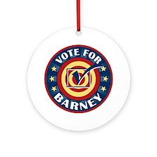 Vote for Barney Personalized Ornament (Round)