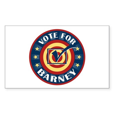 Vote for Barney Personalized Rectangle Sticker 50