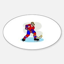 Hardcore Hockey Girl Oval Decal
