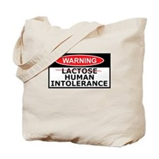 Lactose intolerance spoof Tote Bag