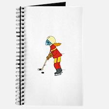 Girl Ice Hockey Player Journal