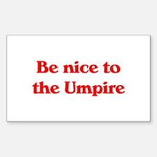 Umpire Rectangle Sticker 10 pk)