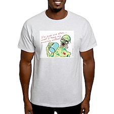 Coffee Zombie Ash Grey T-Shirt