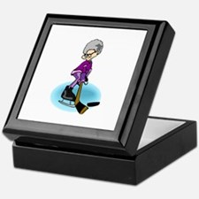 Grany Hockey Player Keepsake Box