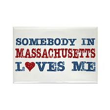 Somebody in Massachusetts Loves Me Rectangle Magne