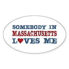 Somebody in Massachusetts Loves Me Decal