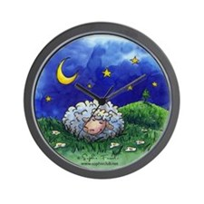 Lamb's Sweet Dreams Clock by Sophie Turrel
