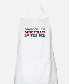 Somebody in Michigan Loves Me BBQ Apron