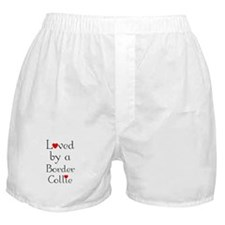 Loved by a Border Collie Boxer Shorts