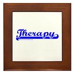 Softball Therapy B Framed Tile