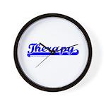 Softball Therapy B Wall Clock
